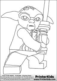 lego star wars master yoda battle stance coloring