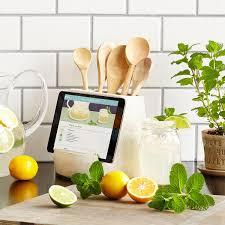 Green Kitchen Utensil Holder Kitchen Utensil And Tablet Holder Ipad Cookbook Stand