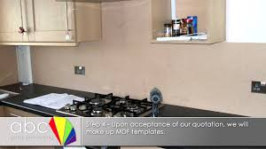 Kitchen Splashbacks Abc Glass Processing Kitchen Splashback Installation Youtube