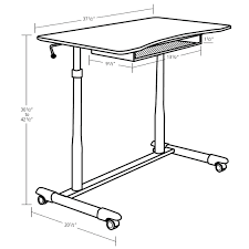 proper height for standing desk