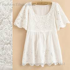 womens cotton blouses moir vintage floral embroidery white shirt blouses summer