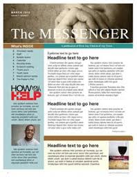 free church newsletter template printable newsletter template