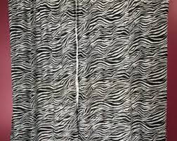 Zebra Curtain Panels Zebra Print Curtains Etsy