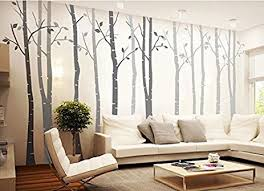 living room wall stickers amazon com white branch tree wall decals with quote birch tree