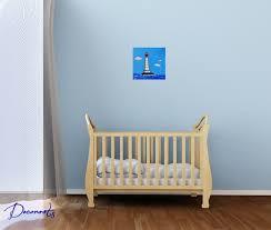 chambre bébé plage tableau enfant bébé garçon le phare thème mer décoration chambre