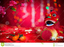 New Year Decoration Pics by Chinese New Year Decorations On Red Background Stock Photo Image