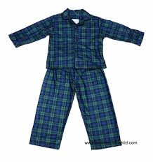 of salzburg boys blue green blackwatch plaid button front