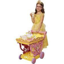 disney princess belle musical tea party cart walmart