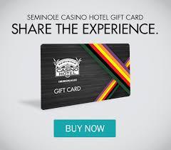 hotel gift card contact seminole casino hotel immokalee