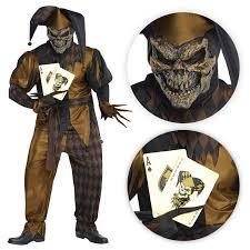 Mens Joker Halloween Costume Mens Joker Evil Clown Circus Jester Medieval Halloween Fancy Dress