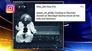 philadelphia police 13 made u0027clown threats u0027 toward schools
