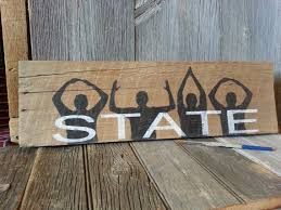 state wood ohio state reclaimed wood sign o h i o sign go by russtybucket