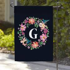 personalized garden flags monogram