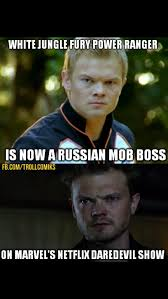 White Russian Meme - go go russian mob boss powerrangers
