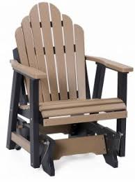 Outdoor Single Glider Chair Poly Gliders Amish Yard