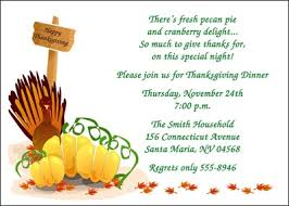 thanksgiving dinner invitation cards for friends family and