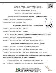 Worksheets For 6th Grade Math Ratio Word Problems