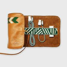 leather tech roll with mobile accessories by mantidy