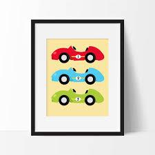 Car Nursery Decor Race Cars Nursery Printable Race Car Nursery Decor Boy