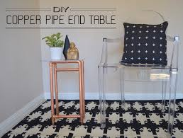 Build A Simple End Table by Diy Copper Pipe End Table Dandylione