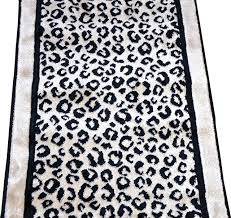 Black White Runner Rug Kenya Onyx Snow Leopard Stair Or Hall Carpet Runner Rug 27