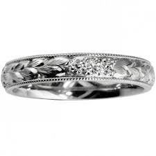 wedding rings uk forget me not flower engraved wedding ring