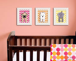 chevron nursery decor set of any 3 puppy dog art prints kids