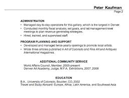 Combination Resume Samples Resume For Executive Director Performing Arts Susan Ireland Resumes
