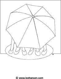 spring rainy umbrella coloring