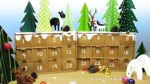 diy rustic winter forest advent calendar christmas countdown c