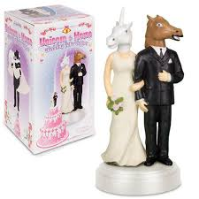 unicorn cake topper unicorn and wedding cake topper archie mcphee co