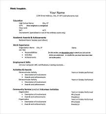 high school resume template for college application resume templates for college applications sle high school resume
