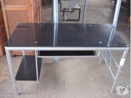 bureau en verre tremp noir bureau verre noir offres mai clasf