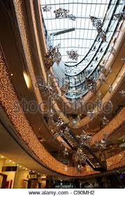 Christmas Decorations Shop Lakeside by Christmas Decoration In A Shopping Mall Many Golden Christmas