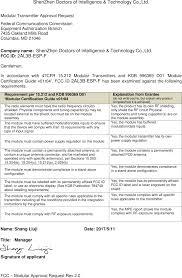 esp f esp f wifi module cover letter federal communications