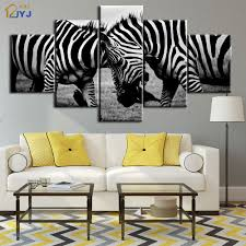 online get cheap zebras africa aliexpress com alibaba group black and white color africa zebra picture wall art for living room decoration hd print oil