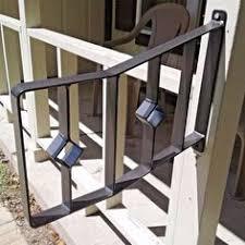 2 Step Handrail Wrought Iron Metal Steel 1 2 Step Grab Handrail Porch Decor Raw