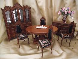 Dollhouse Dining Room Furniture Miniature Dollhouse Dining Room Set The Ysabelle 625 00