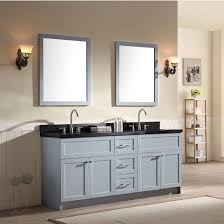 ace 73 inch transitional double sink bathroom vanity set in grey