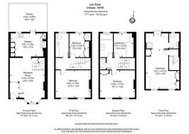 terraced house floor plans martin u0026 co chelsea 5 bedroom terraced house for sale in lots road