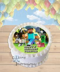 minecraft edible cake topper minecraft steve edible image cake topper