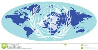 un map earth map with united nations emblem royalty free stock image