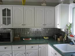 cheap backsplash ideas painting tileboard paneling end results