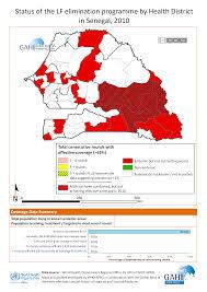 Dakar Senegal Map Status Of Lymphatic Filariasis Elimination Programme In Senegal