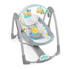 portable baby swing with lights bright starts taggies portable baby bouncer grey bright starts