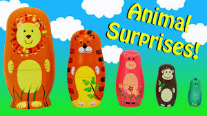 surprise toys zoo animal nesting stacking cups learn colors