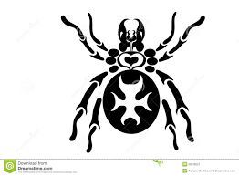 tribal spider tattoo design royalty free stock photography