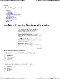 analytical reasoning questions with solutions problems u0026answers
