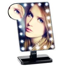 Portable Vanity Table Suntop Led Lighted Makeup Vanity Mirror 20 Light Bulbs And 10x