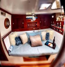 Boat Cushion Fabric Sailboat This Is The Redesigned Boat Interior Of A Catalina 30